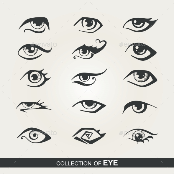GraphicRiver Set of Eyes 9484404