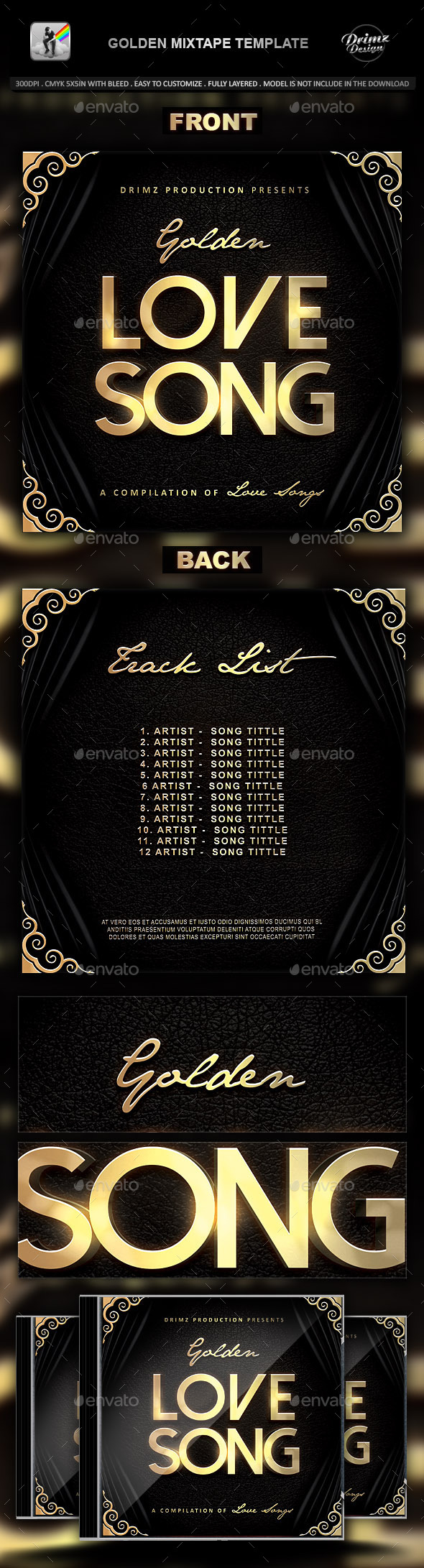 GraphicRiver Golden Mixtape Template 9484419