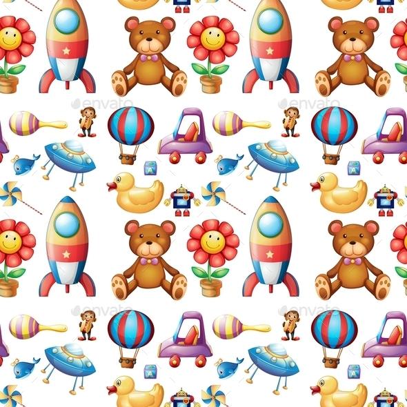 GraphicRiver Seamless Toys 9484458