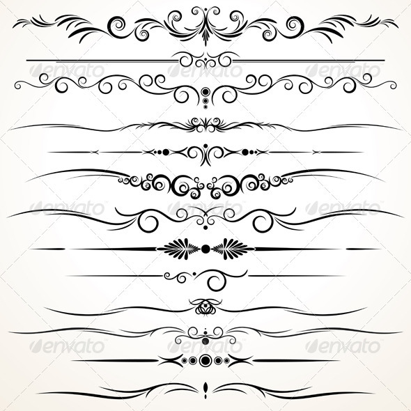 GraphicRiver Ornamental Rule Lines 964963