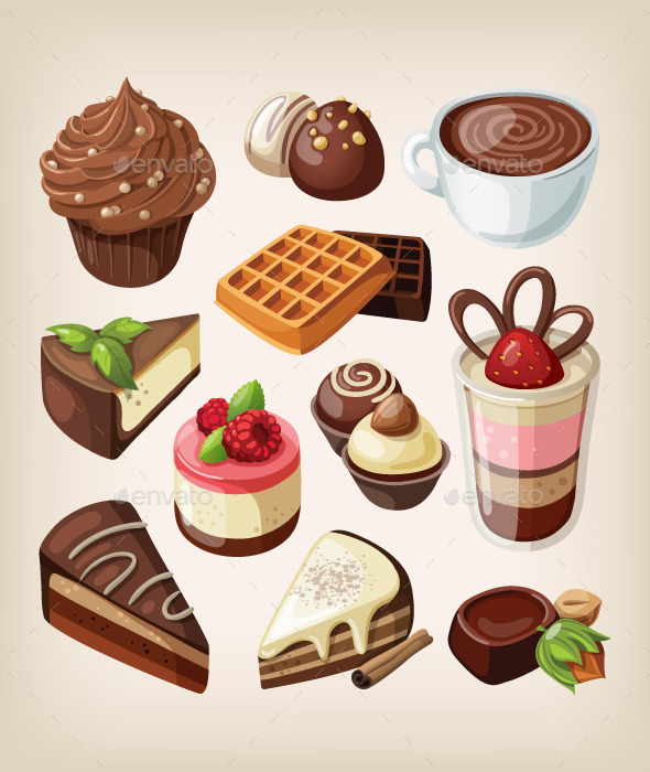GraphicRiver Set of Chocolates 9484486