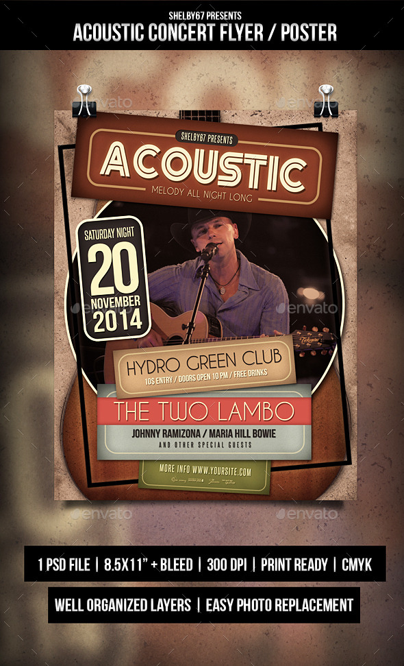 GraphicRiver Acoustic Concert Flyer Poster 9430556