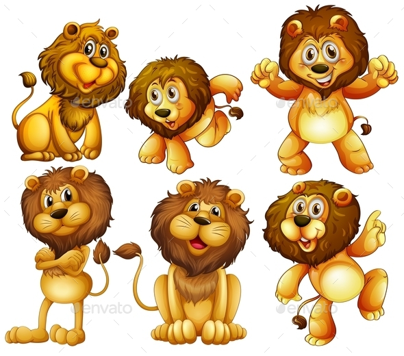 GraphicRiver Lion Set 9484586