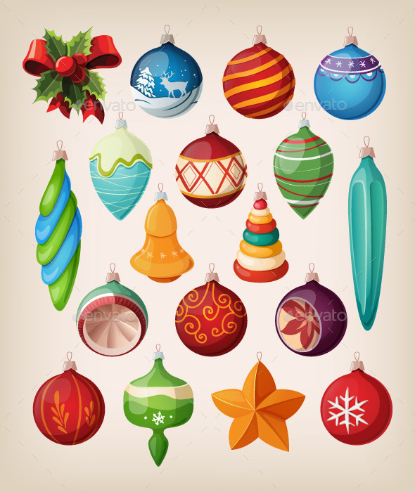 GraphicRiver Set of Christmas Balls and Toys 9484615
