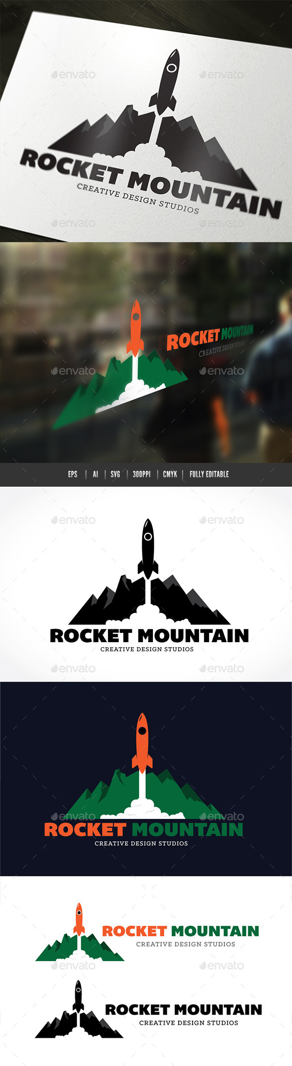 GraphicRiver Rocket Mountain 9484745