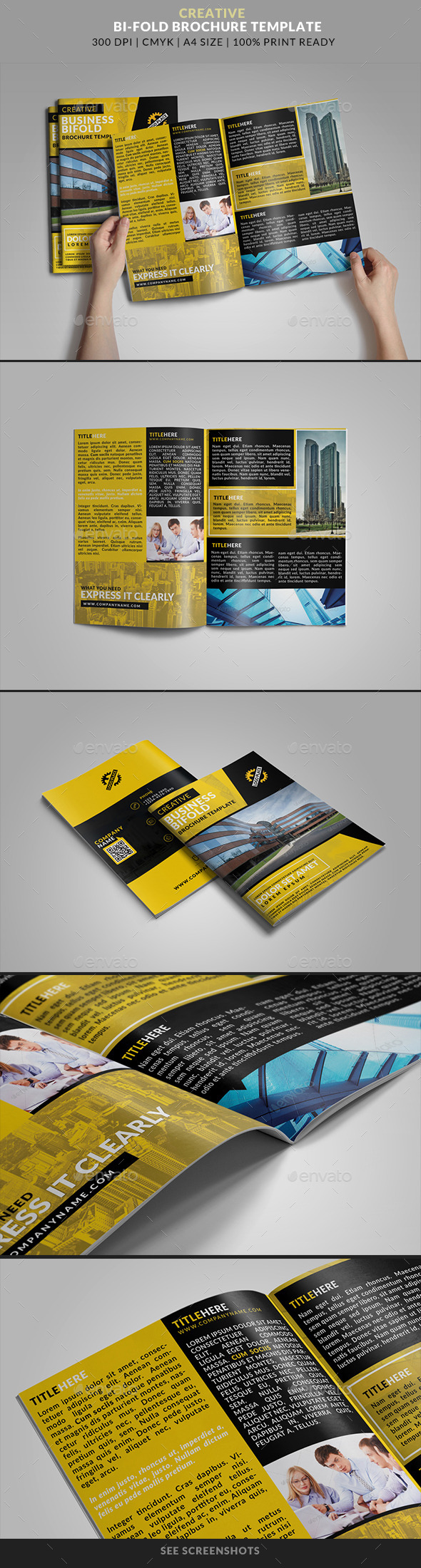 GraphicRiver Bifold Brochure 16 Creative Business 9484812
