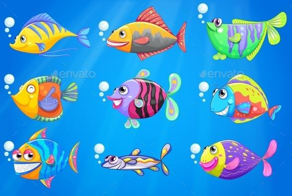 GraphicRiver Colorful Fish 9484957