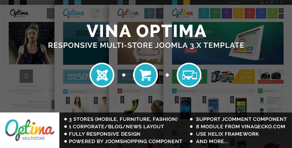 ThemeForest Vina Optima Multi-Store Joomla 3.x Template 9485071