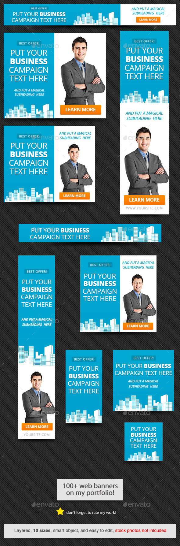 GraphicRiver Corporate Web Banner Design Template 57 9485076