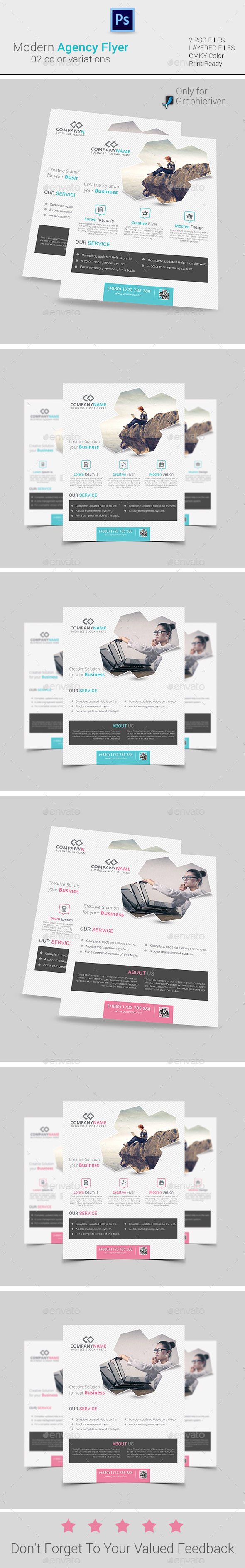 GraphicRiver Modern Agency Flyer Poster ad 9485177