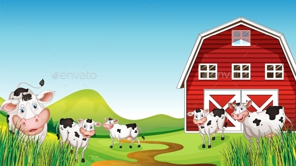GraphicRiver Dairy Farm Set 9485458