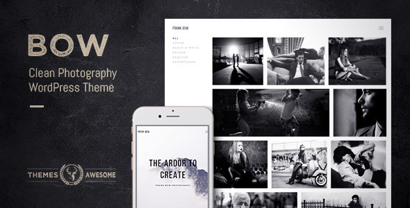 ThemeForest Bow Clean Photography Portfolio Theme 9431128