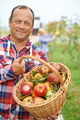 Man with basket of apples - PhotoDune Item for Sale