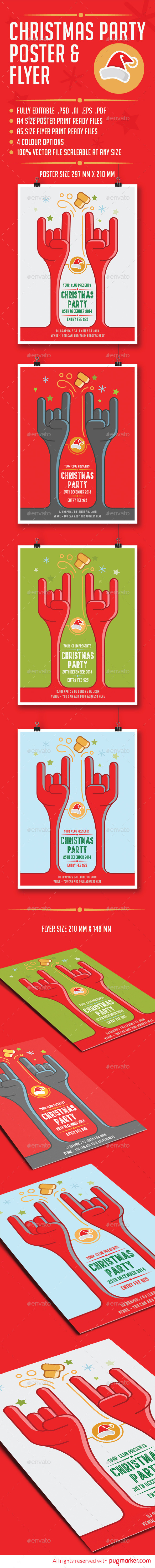 GraphicRiver Christmas Party Invitation Poster & Flyer 9485503