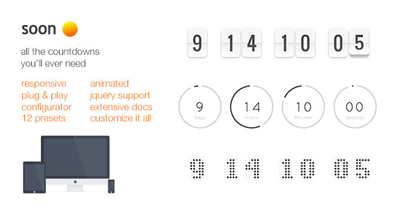 CodeCanyon Soon Animated Responsive Countdowns jQ Support 9485513