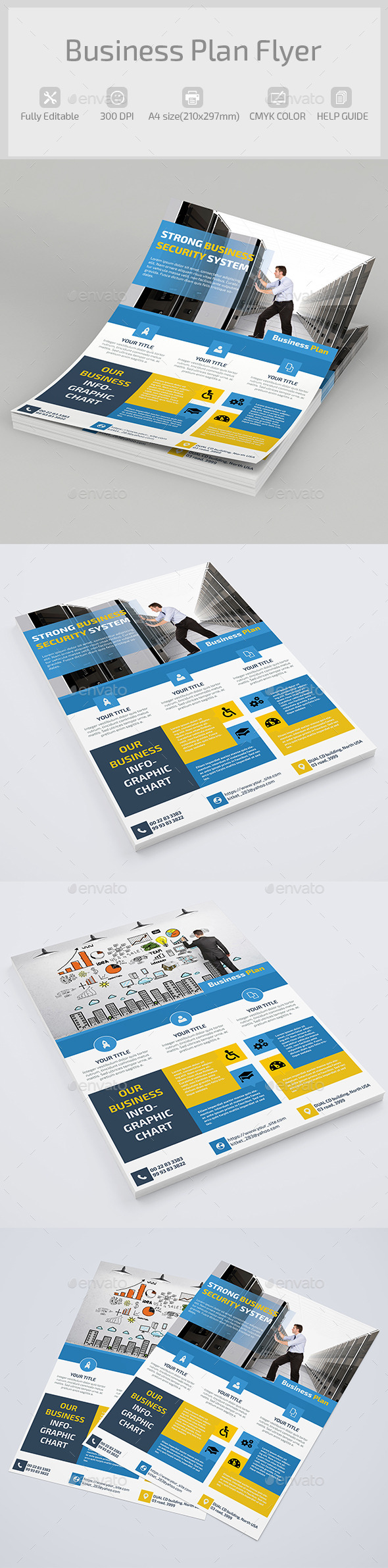 GraphicRiver Business Plan Flyer 9485845