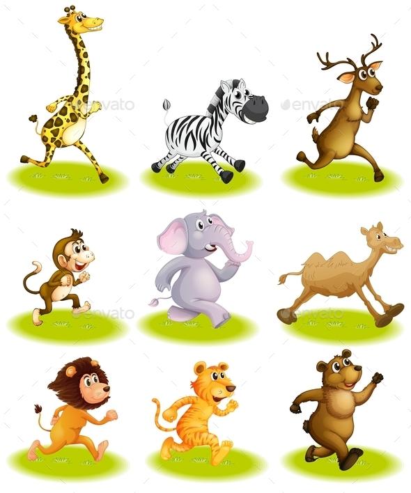 GraphicRiver Running Animals 9485897