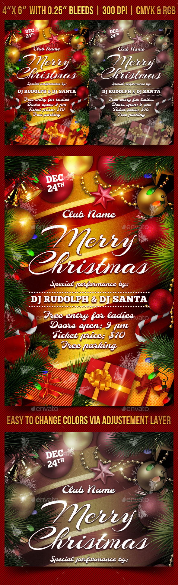 GraphicRiver Christmas Party Flyer Template 9485900