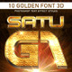10 Golden Font 3D_1 - GraphicRiver Item for Sale