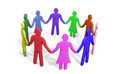 Plenty of colorful people standing in a circle holding hands - PhotoDune Item for Sale