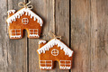 Christmas homemade gingerbread house cookies - PhotoDune Item for Sale