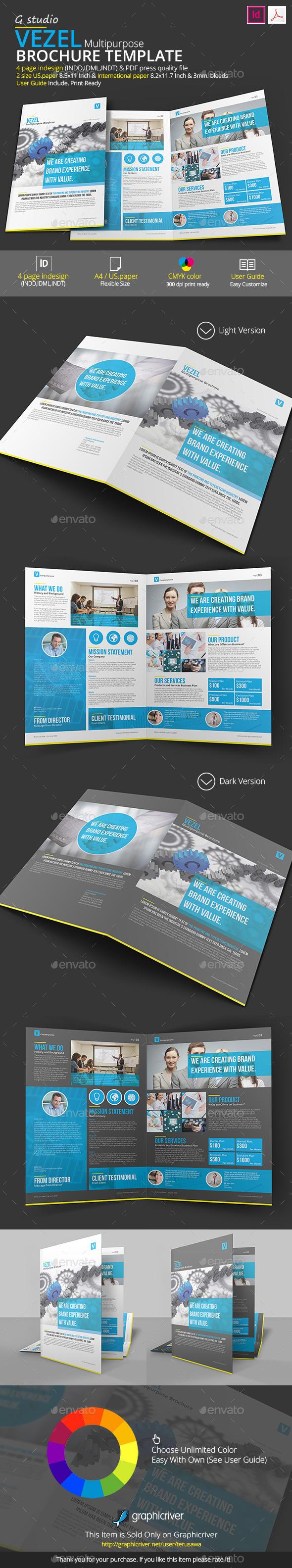 GraphicRiver Vezel Brochure Template 9486378