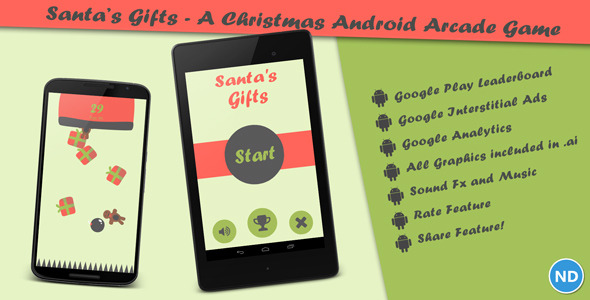CodeCanyon Santa s Gifts A Christmas Android Arcade Game 9486759