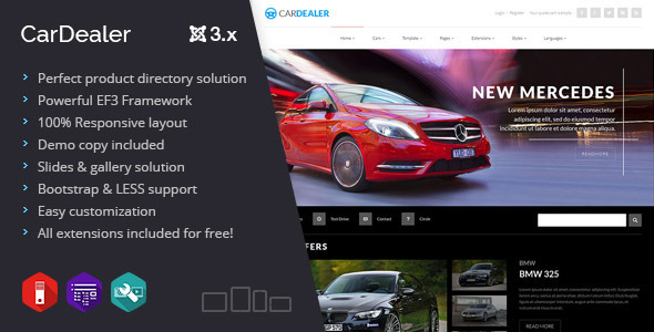 Car Dealer multipurpose product directory