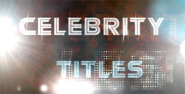 After Effects Project - VideoHive Celebrity Titles 121283
