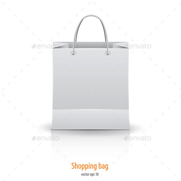 GraphicRiver Shopping Paper Bag Isolated on White 9487366