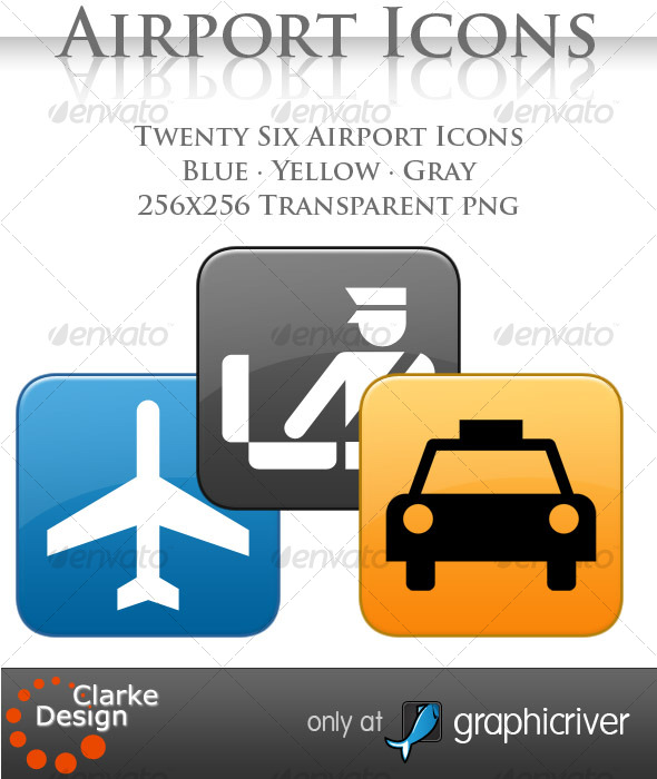 GraphicRiver A collection of 26 Airport Icons 121287