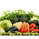 Assorted raw organic vegetables isolated on white - PhotoDune Item for Sale