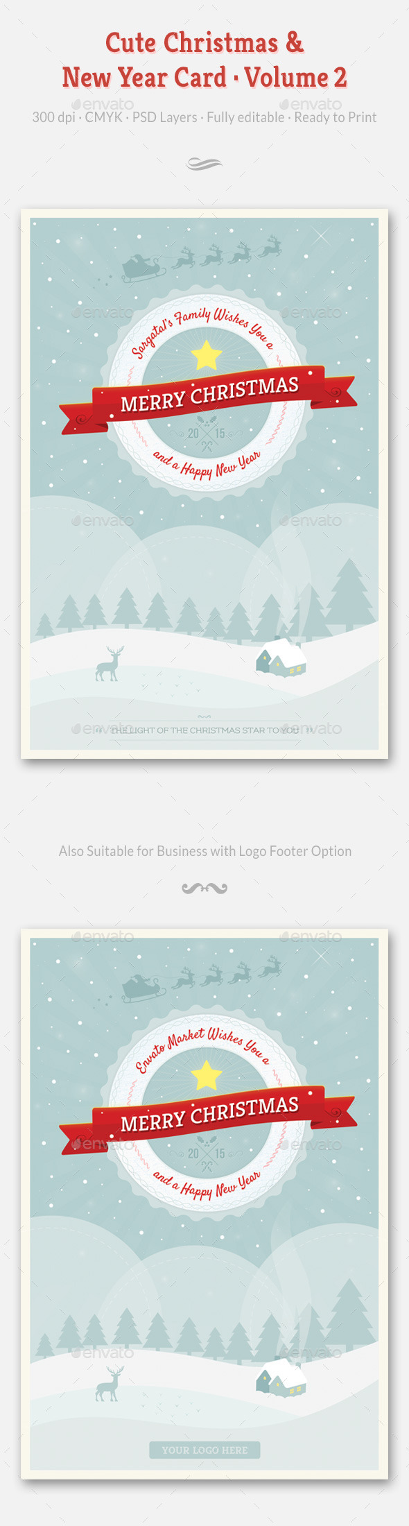 GraphicRiver Cute Christmas and New Year Card Volume 02 9450072