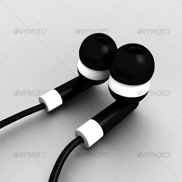 3DOcean Beautiful ear plug headphone 119938