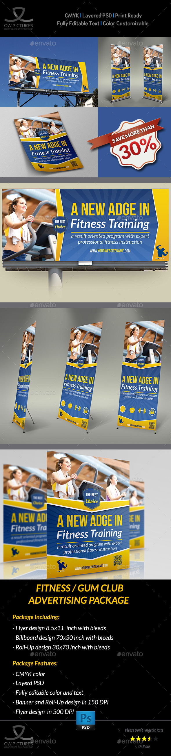 GraphicRiver Fitness GYM Advertising Bundle 9450727