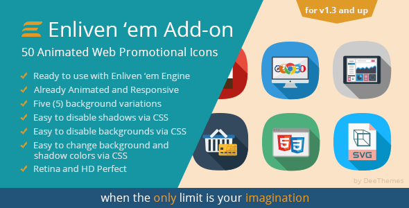 CodeCanyon Enliven em Premium Add-on Web Promotional Icons 9487788