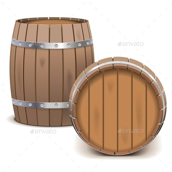 GraphicRiver Vector Barrels 9487792