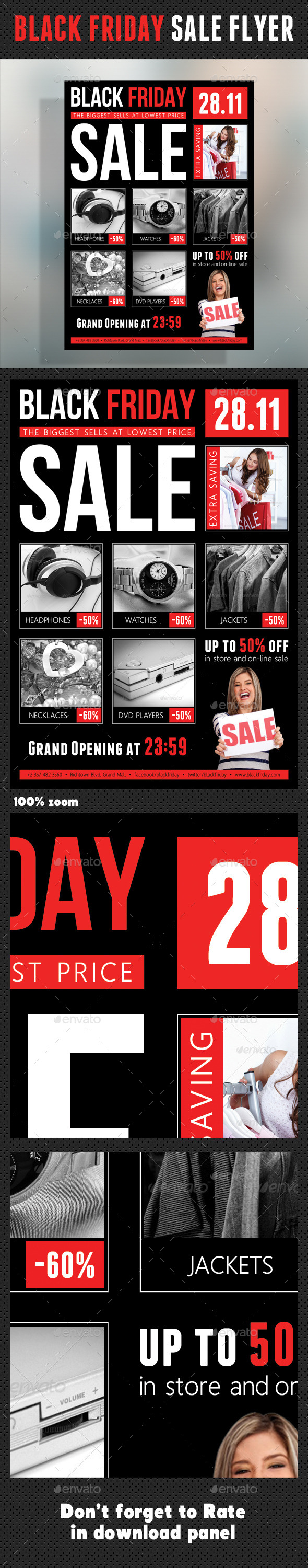 GraphicRiver Black Friday Flyer V01 9487810