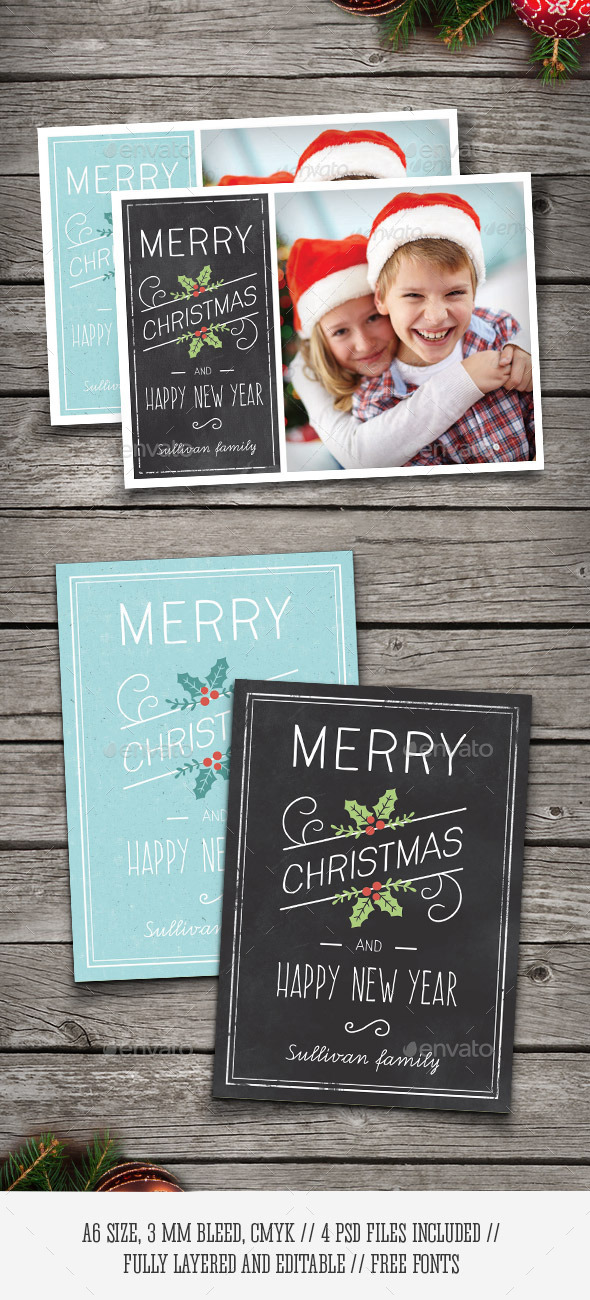 GraphicRiver Christmas Photo Cards 9487812