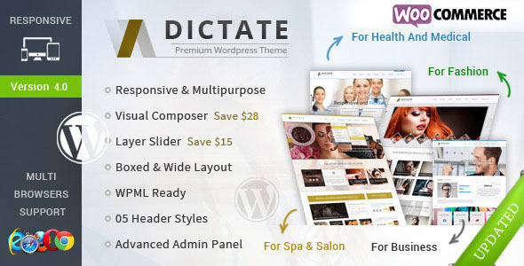 Dictate - Business, Fashion, Medical, Spa WP Theme - Health & Beauty Retail