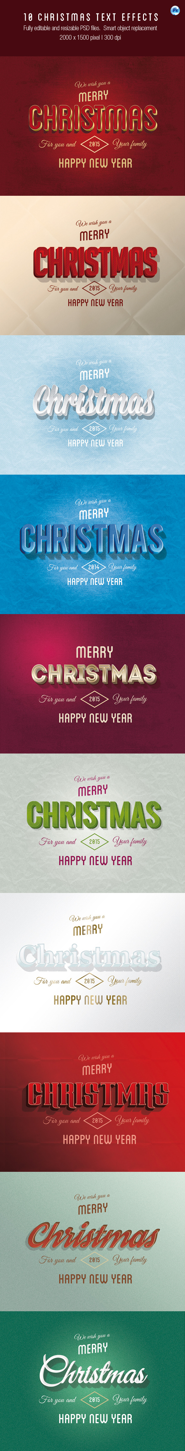 GraphicRiver 10 Christmas Text Effects 9439976