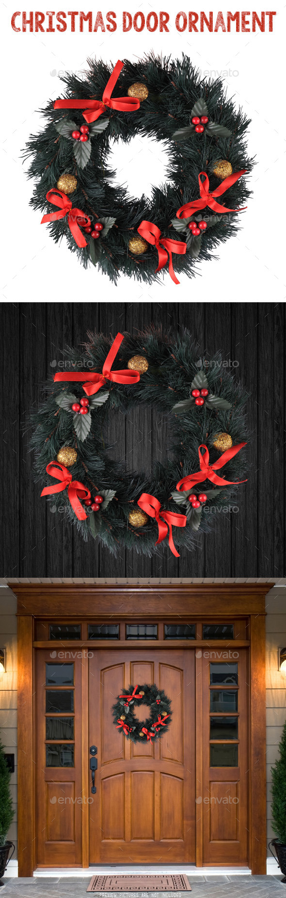 GraphicRiver Christmas Door Ornament 9488868