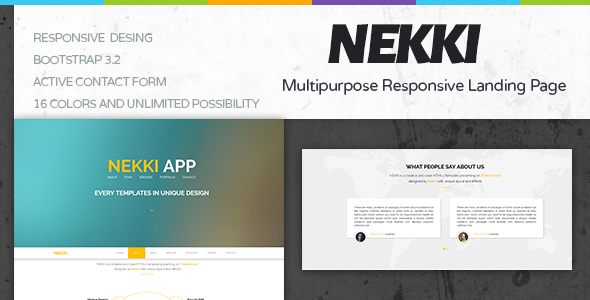 ThemeForest Nekki Creative HTML Template 9488966