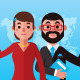 Infographic Flat Male and Female Characters - GraphicRiver Item for Sale