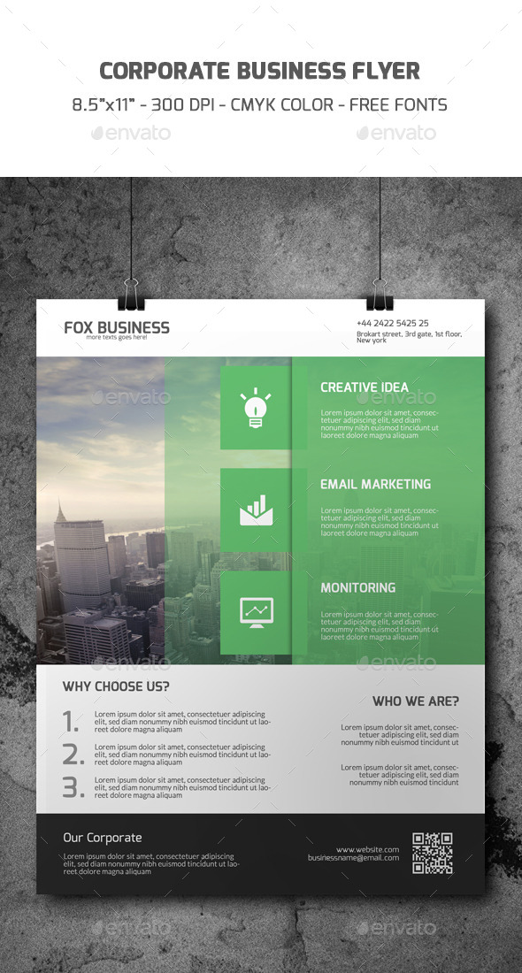 GraphicRiver Corporate Flyer Template 9365604
