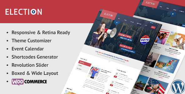 Election - Political WordPress Theme - Political Nonprofit