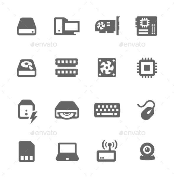 GraphicRiver Hardware Icons 9489586