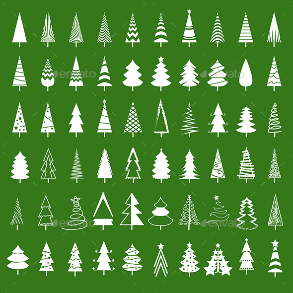 GraphicRiver Christmas Tree Set 9489680
