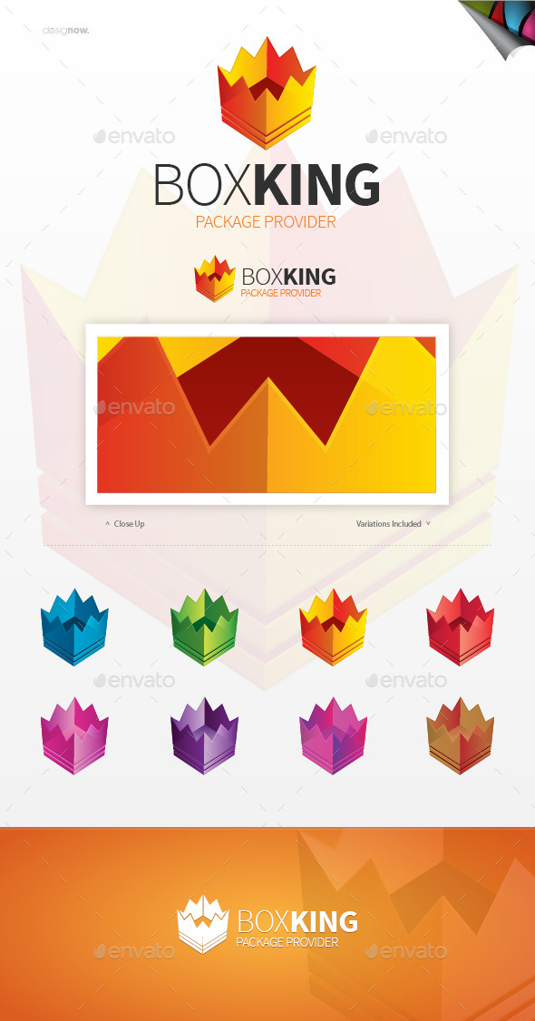 GraphicRiver Box King Logo 9489721