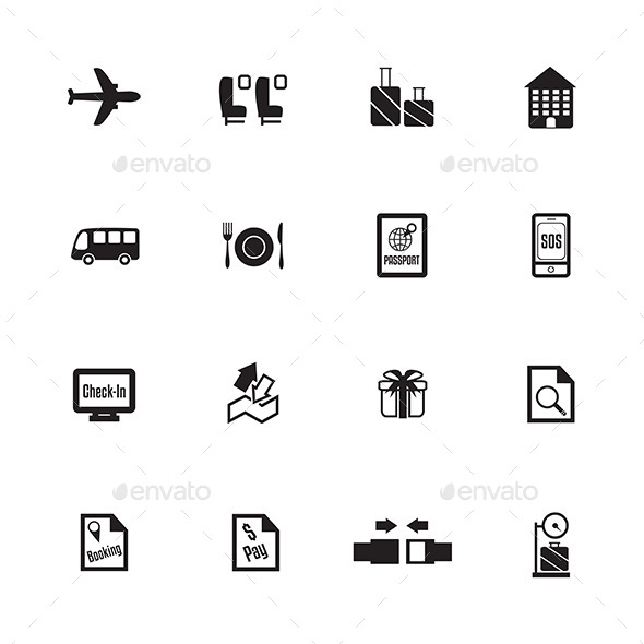 GraphicRiver Airport Icons 9489770